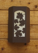 Small Wall Sconce - Maple Leaf Design